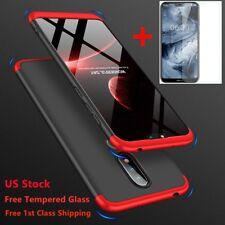 For Nokia 6/6.1 2018 360° Full Cover Shockproof Hybrid Slim Case+Tempered Glass