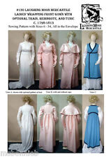 Regency Wrapping Front Gown, Redingote & Tunic Laughing Moon Sewing Pattern 130