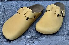 MENS BIRKENSTOCK BOSTON CLOGS CAMEL COLOUR SIZE 48 UK 13