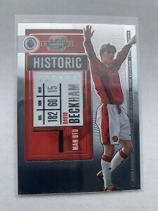 2020-21 Panini Chronicles David Beckham Contenders Optic Manchester United