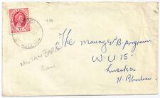 Rhodesia & Nyasaland 1954 3d sg 4 Cover MUTAMBARA 16 Oct 1954