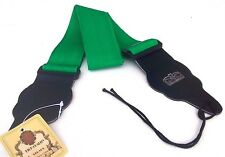 Green guitar strap for electric guitars, bass, acoustic and classical guitars