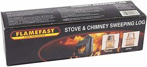 Chimney Cleaning Log Fireplace Stove Soot Creosote Cleaner Eco Flue Sweeper