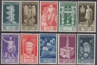 Italy Regno - 1937 Augusto Sass. n.416-425 cv 420 MNH**