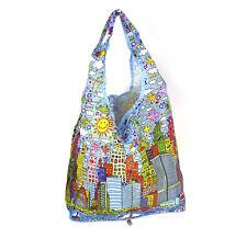 James Rizzi New York City - Bag in a Bag - Foldaway Zipper Shopper Bag