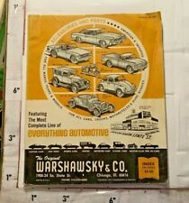 1972 Warshawsky Co Automotive Accessories & Parts Catalog Chicago Il S State St