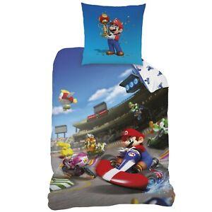 Nintendo Super Mario Kart Kinder/Jungen Bettwäsche 80x80 + 135x200 cm Baumwolle