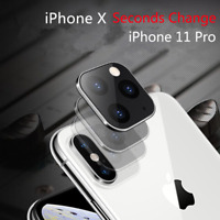 1-2pcs iPhone 11 Pro Metal Camera Lens Cover Seconds Change for iPhone X XS Max