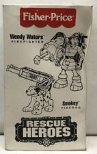 1998 Fisher Price Rescue Heroes Wendy Waters Firefighter And Her Dog