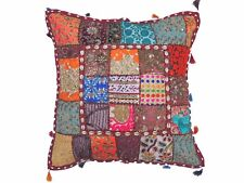 """Multicolor Tapestry Floor Pillow Cover - Beadwork Ethnic Patchwork Euro Sham 26"""""""