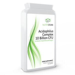 Acidophilus Complex 10 Billion CFU For Digestive System 120 Capsules