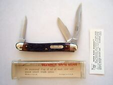 SCHRADE WALDEN NY USA 855RB RAZOR BLADE STAINLESS  PATTERN KNIFE