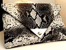Pelle di Serpente mozzafiato Lusso Borsa busta pochette borsetta con catena