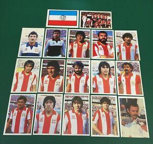 LOTTO DI 17 FIGURINE CALCIATORI CALCIO FLASH WORLD CUP MEXICO 86 TEAM PARAGUAY