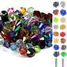 100Pcs 6mm Various Colour Faceted Crystal Glass Bicone Beads Jewellery Making