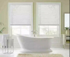 """Real Simple 2 inch Faux Wood 30"""" x 48"""" Cordless Blind/Shade in White"""
