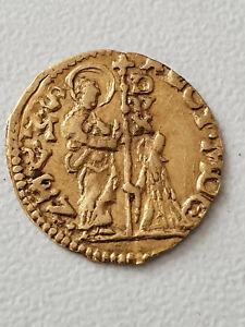 Monnaie Italie Venise Quart de sequin d'or Gold 0,89 gr 1779-1789 TTB++