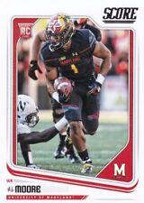 2018 Score Football D.J. Moore Rookie Maryland Terrapins #384 Carolina Panthers