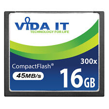 VIDA 16GB Compact Flash CF Memory Card High Speed 45MB/s For SLR Digital Camera