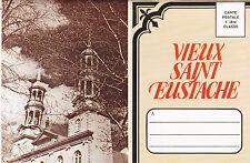 Dépliant Postal Vieux ST. EUSTACHE Quebec Canada 1960s Souvenir Postal Folder