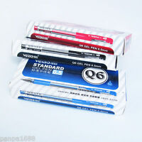 4pcs Veiao Q6 Standard Gel Pen 0.5mm Pipe Blue Black Red Gel Ink Pens 3 Colors