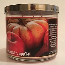 NEW BATH & BODY WORKS PUMPKIN APPLE CANDLE 3-WICK 14.5 LARGE FILLED SCENTED