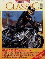 Motorrad Classic 2/95 1995 BMW R 69 S Bücker 200 Express-Radex Saroléa 23 A Jawa