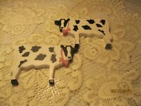 Home Interior Cow Plaques Set Of 2 Black And White