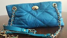 NWT DKNY Messenger Crossbody Handbag Small Turquoise MSRP $95