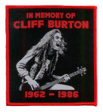 CLIFF BURTON Aufnäher IN MEMORY ♫ Tribute Patch ♫ red border edition ♫ Metallica