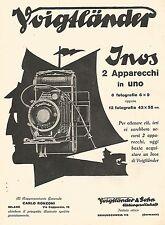 W9927 Voigtlander - INOS 2 apparecchi in uno - Pubblicità del 1931 - Old advert