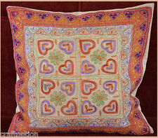 Stone washed Cotton Embroidery Hand Made Pillow Cover from Craft Options!