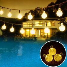 20 LED Crystal Ball Fairy String Lights Party Christmas Wedding Indoor Outdoor