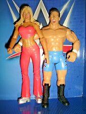 """RARE TORRIE WILSON + BILLY KIDMAN 7"""" FIGURE LOT 2003 JAKKS PACIFIC WWE WRESTLING"""