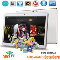 "10.1"" Octa-Core 4/64GB Dual Camera SIM Wifi Phone Pad Phablet Android Tablet PC"
