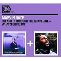 MARVIN GAYE - 2 FOR 1:I HEARD IT THROUGH THE GRAPEVINE/WHAT'S GOING ON;2 CD NEU