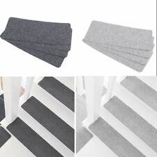 14x Staircase Step Mat Stair Tread Carpet Non Slip Step Runner Rug Pad Washable