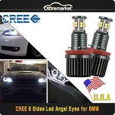 Total 120W H8 CREE LED BMW Angel Eye Halo Ring Bulb White For E90 E92 E60 E61 US