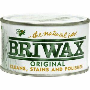 Briwax Original Polish inc Beeswax  400g Clear, Oak, Teak, Pine, Walnut, Brown