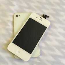 LCD Screen Digitizer+Back cover + Home Button For iPhone 4s GSM /CDMA White