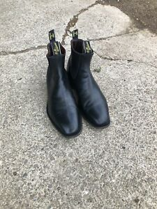 RM Williams Comfort Craftsman Black Yearling Size 9.5H