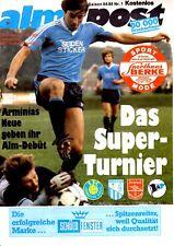 Arminia Bielefeld v Arsenal programa, fácil de usar, agosto de 1984, Buen Estado