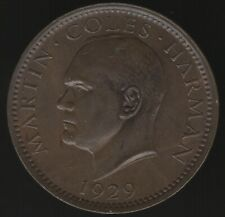 More details for 1929 lundi island 1 puffin martin coles harman token   pennies2pounds