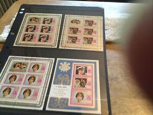 Niue 4 X Mint Stamp Miniature Sheets