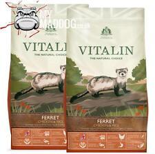 More details for 2 x 12kg vitalin super premium ferret biscuits food hypoallergenic over 40% meat