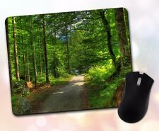 Nature ~ Trees, Forest, Pathway, Lush, Green, Shady, Scenic ~ Vivid Mouse Pad 7