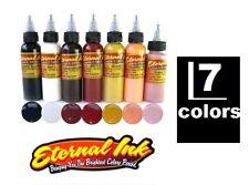 ETERNAL Tattoo Inks Portrait 7 Colors Small Set in 1/2 oz Bottles Original USA