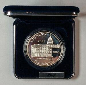 2001-P U/S Capitol Proof Silver Dollar 190502D