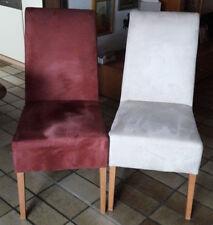 4 Hochlehner Esszimmerstühle Sitzgruppe Beige-Rot