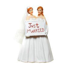 Frauenhochzeit Hochzeitspaar Lesben Brautpaar Hochzeit Tortenfigur Deko Figur